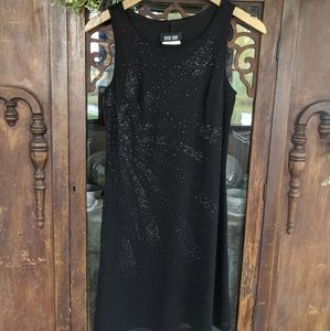 5 for $15! Vintage black embellished dress